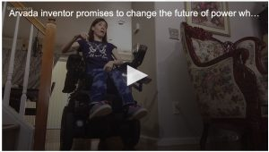 Video image of woman in LUCI wheelchair